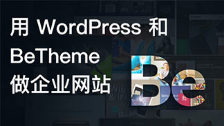 用 WordPress 和 BeTheme 做企业网站视频教程