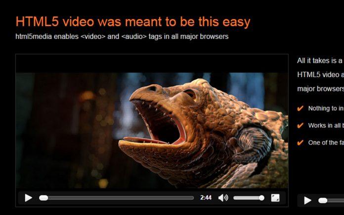 H5视频代码 支持iPhone 带封面 兼容老IE HTML5Media - html5media1