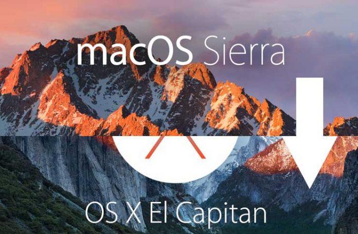 macOS Sierra 10.12.2 降回 OS X El Capitan 10.11.6降级教程以及注意事项 - macOS Sierra to OS X El Capitan