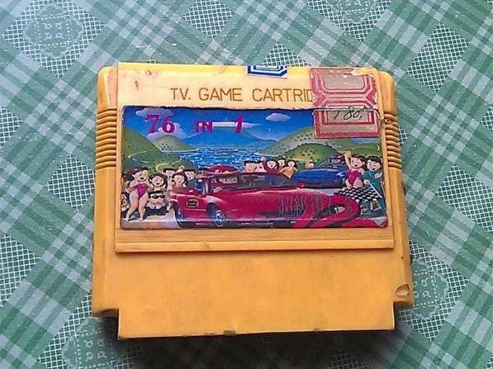 我的第一盘FC游戏卡带《76合1》,你们的第一盘卡带是什么? - 76in1