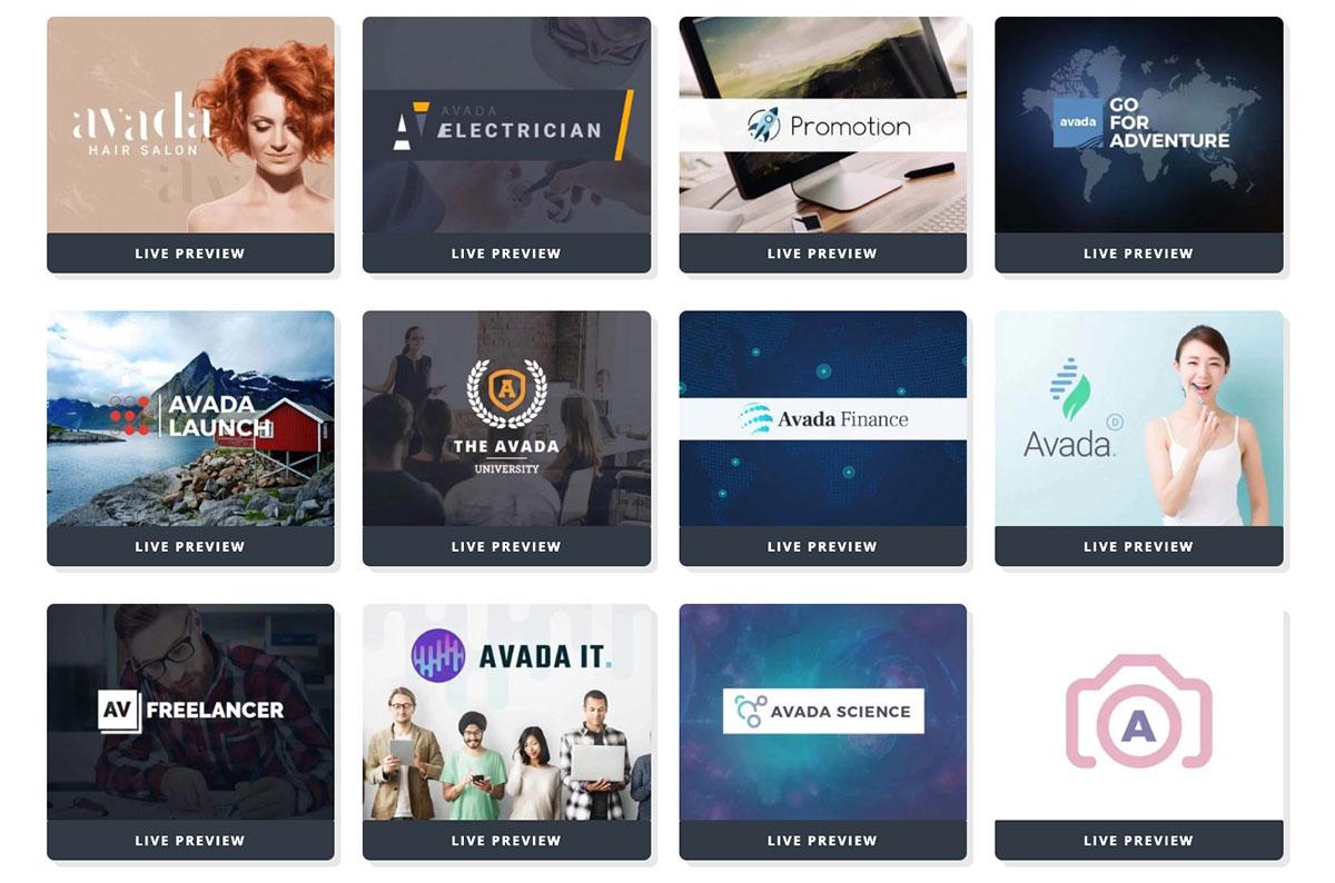 82个WordPress主题 Avada Demo 演示网站 截止2021年4月14日 Avada7.3 - Avada demos 02