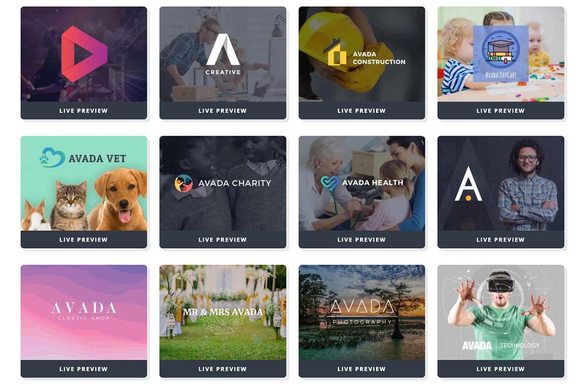 82个WordPress主题 Avada Demo 演示网站 截止2021年4月14日 Avada7.3 - Avada demos 03