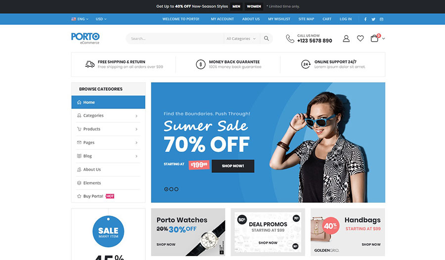 WordPress+WooCommerce商城主题 黑五促销 - WooCommerce themes blackfriday 6