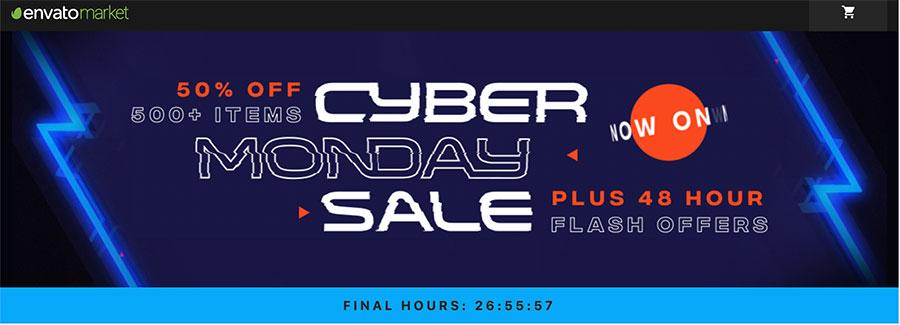 WordPress+WooCommerce商城主题 黑五促销 - cyber monday