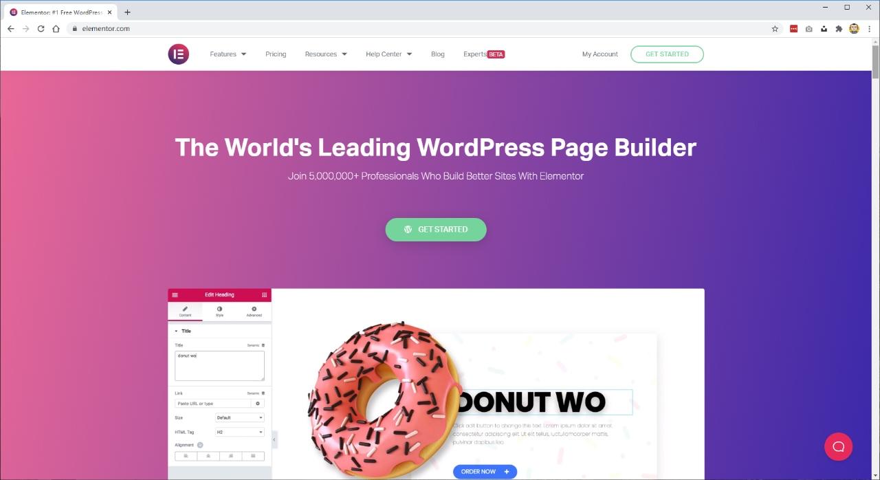 "用Elementor插件和ASTRA主题,构建""免费""WordPress网站 - elementor1"