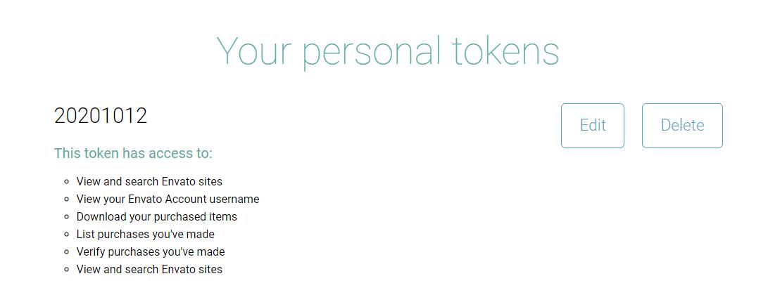 Avada 7.1 正版主题生成Token密钥需要的权限(新版) - avada api 3
