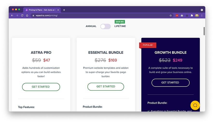 Astra主题和Elementor插件值得买吗?用WordPress做外贸独立站和国内网站 - astra price